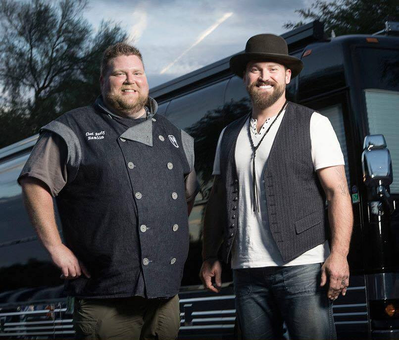 Chef Rusty Hamlin with Zac Brown