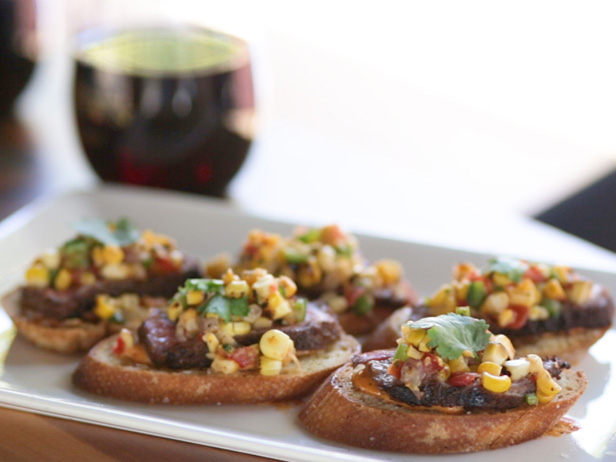 Firecracker NY Strip Brushetta, Chipotle Mayo, Roasted Corn Salsa